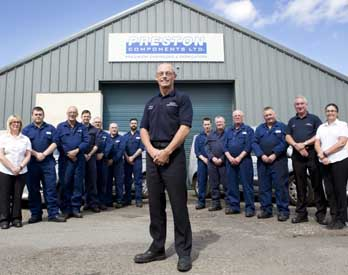 Preston Components staff